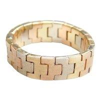 14k Gold Tri-Color Flex Ring