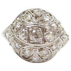 Platinum Edwardian .80 ctw Diamond Dome Ring