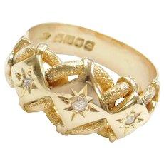 Edwardian 18k Gold Old European Cut Diamond Ring