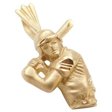 14k Gold Baseball Player Charm