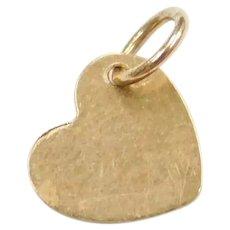 14k Gold Tiny Heart Charm
