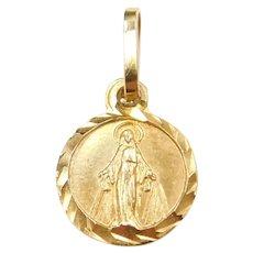 14k Gold Religious Jesus Charm