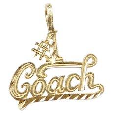 14k Gold #1 Coach Charm