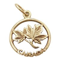 10k Gold Canada Maple Leaf Charm