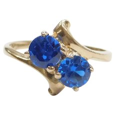 1.00 ctw Blue Spinel Bypass Ring 10k Gold