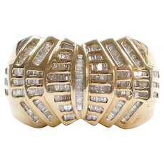 Big Men's 1.00 ctw Diamond Ring 10k Gold