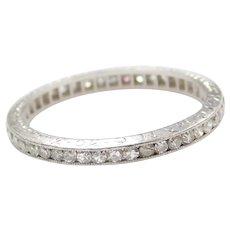 1930's Platinum .66 ctw Diamond Eternity Band Ring