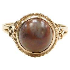 14k Gold Jasper Ring