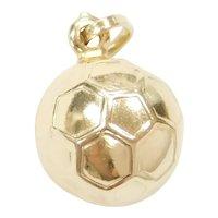 14k Gold Soccer Ball Charm Three Dimensional