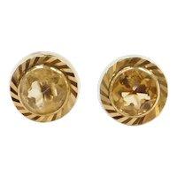 2.00 ctw Citrine Stud Earrings 14k Gold