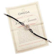 Ladies Diamond Omega Watch 14k White Gold