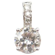 2.07 ctw Moissanite Pendant 14k White Gold