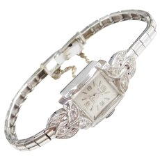 14k White Gold .30 ctw Diamond Daumer Wrist Watch