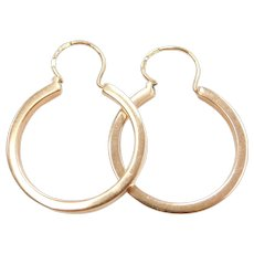 14k Gold Hoop Earrings 1930-40's