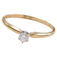 .14 Carat Diamond Solitaire Engagement Ring 10k Gold