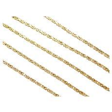 "24"" Long Byzantine Chain ~ 22.6 Grams"