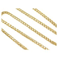 """26 1/4"""" Long 14k Gold Round Curb Link Chain ~ 81.3 Grams"""