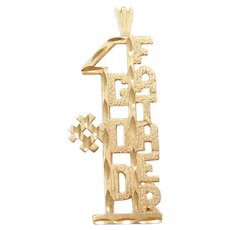 14k Gold #1 Godfather Pendant / Charm