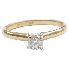 .32 Carat Diamond Solitaire Engagement Ring 14k Gold