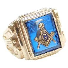 14k Gold Masonic Ring