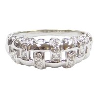 .27 ctw Diamond Woven Band Ring 14k White Gold