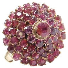 Edwardian Thai Princess Natural Ruby Ring 14k Gold