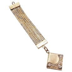 Victorian Gold Filled Two-Tone Floral Locket Fob