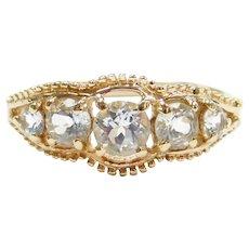 1.13 ctw Aquamarine Ring 10k Gold