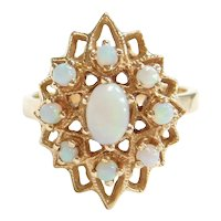 Retro 14k Gold Natural Opal Ring
