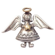 Sterling Silver Carol Henry Designs Singing Angel Pendant