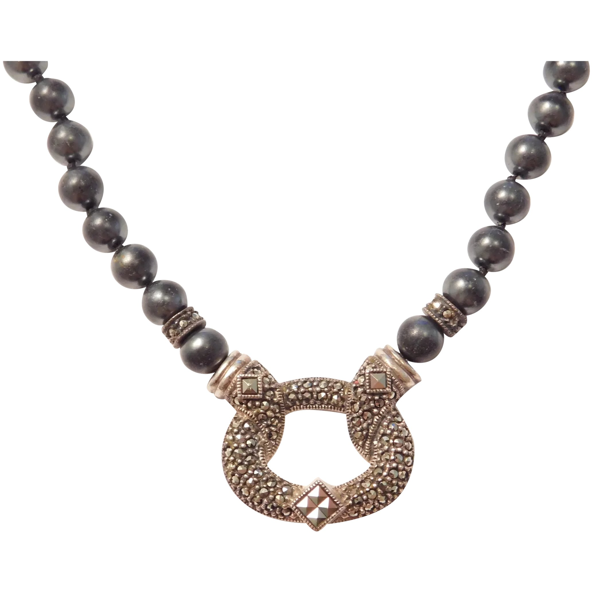 Judith Jack Faux Black Pearl And