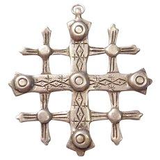 Sterling Silver BIG Crusaders Cross Pendant