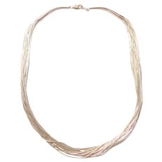 """18"""" Sterling Silver Liquid Silver Necklace"""