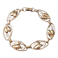 1/20th 12k Gold Filled Art Nouveau Leaf Bracelet