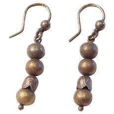 Victorian Revival Sterling Silver Bead Earrings