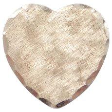 Vintage BEAU Sterling Silver Heart Pin