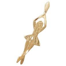14k Gold Ballerina / Ballet Dancer Charm