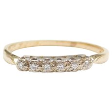 .09 ctw Diamond Wedding Band Ring 14k Gold Two-Tone