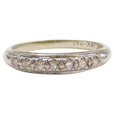 .10 ctw Diamond Wedding Band 18k White Gold