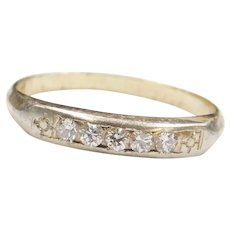 .13 ctw Diamond Wedding Band Ring 14k Gold Two-Tone