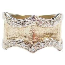 .14 ctw Diamond Two-Tone Ring 14k Gold