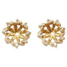 .16 ctw Diamond Earring Jackets