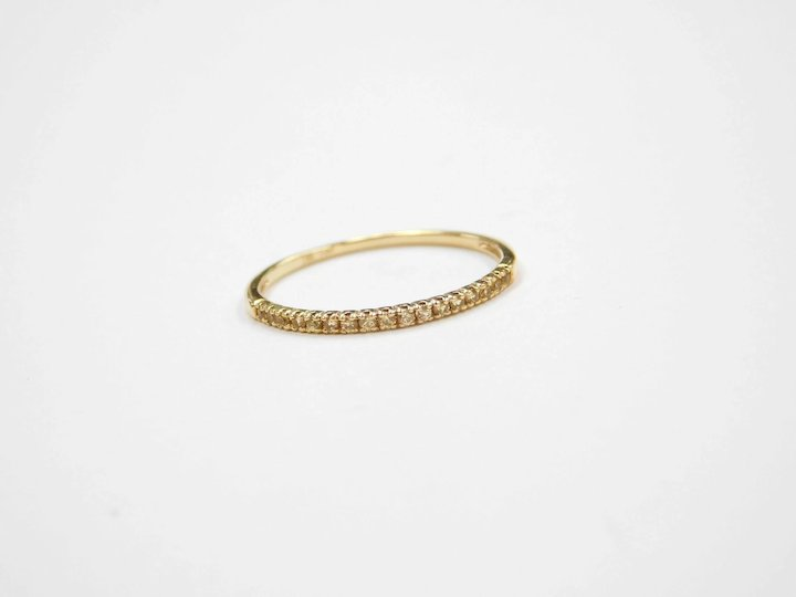Dainty 17 Ctw Yellow Topaz Wedding Band Stacking Ring 18k Gold