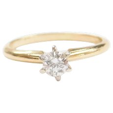 .23 Carat Diamond Solitaire Engagement Ring 14k Gold