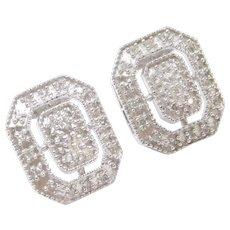.24 ctw Diamond Stud Earrings 10k White Gold