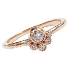 .25 ctw Diamond Boho Style Ring 14k Rose Gold
