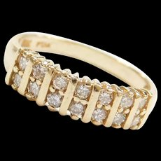 Vintage 14k Gold .28 ctw Diamond Ring