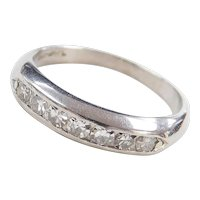 Art Deco Platinum .28 ctw Wedding Band Ring