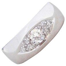 Art Deco 14k White Gold .29 ctw Diamond Ring