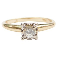 .32 Carat Diamond Engagement Ring 14k Gold Two-Tone
